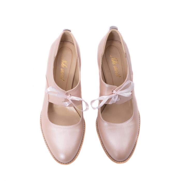 Pantofi dama piele naturala Nike Invest 327P8, nude-roze 5
