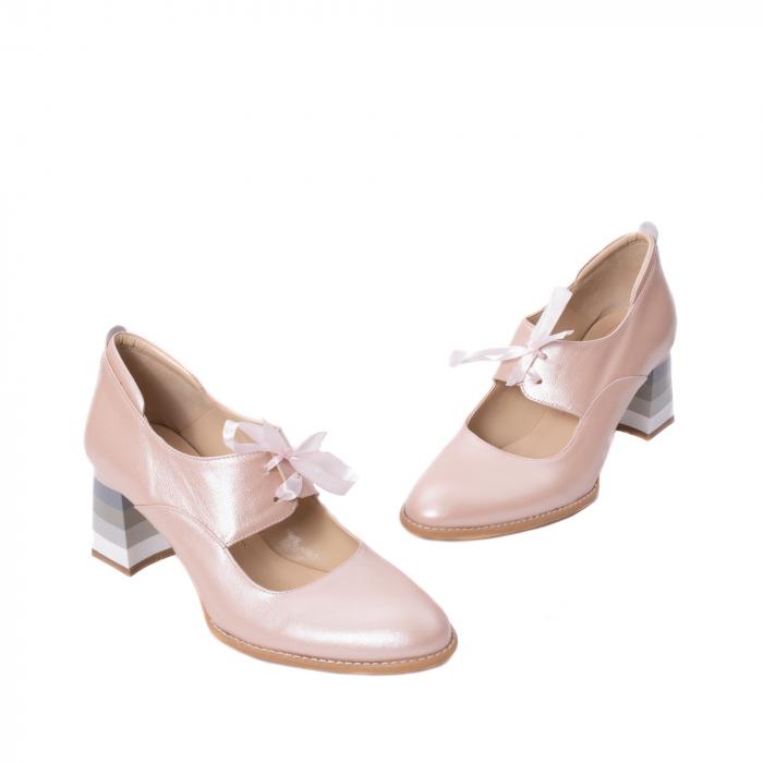 Pantofi dama piele naturala Nike Invest 327P8, nude-roze 1