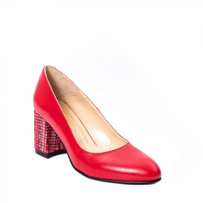 Pantofi dama piele naturala Nike Invest 331R, rosu 0