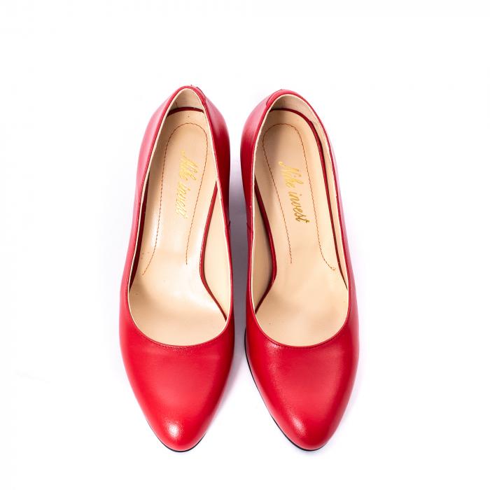 Pantofi dama piele naturala Nike Invest 331R, rosu 5