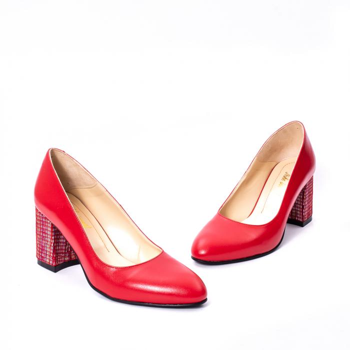 Pantofi dama piele naturala Nike Invest 331R, rosu 1
