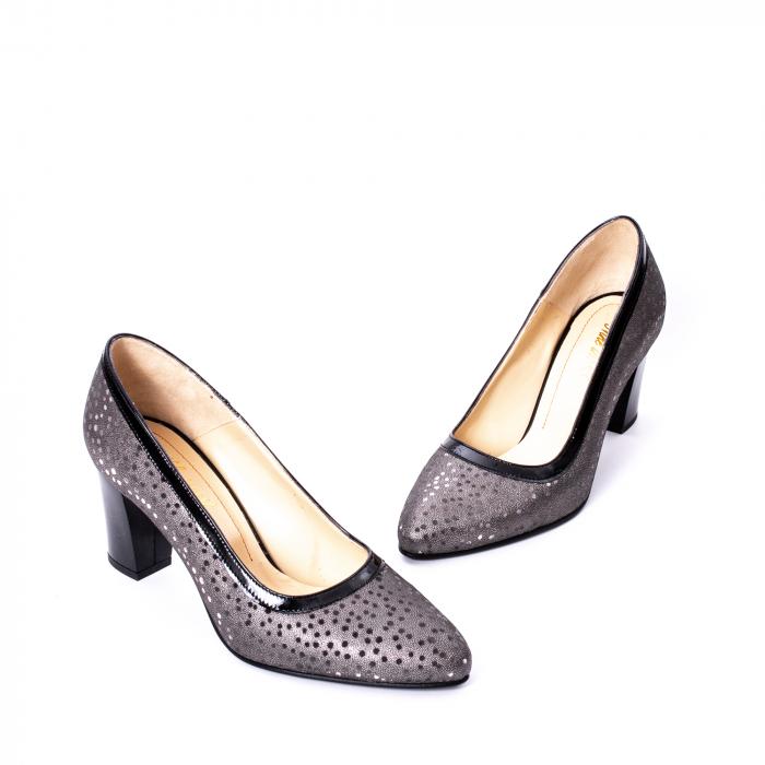 Pantofi dama piele naturala texturata Nike Invest 324 5CNL, negru-gri 1