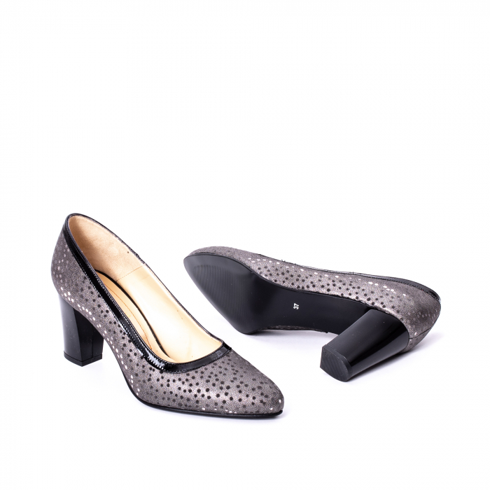 Pantofi dama piele naturala texturata Nike Invest 324 5CNL, negru-gri 3
