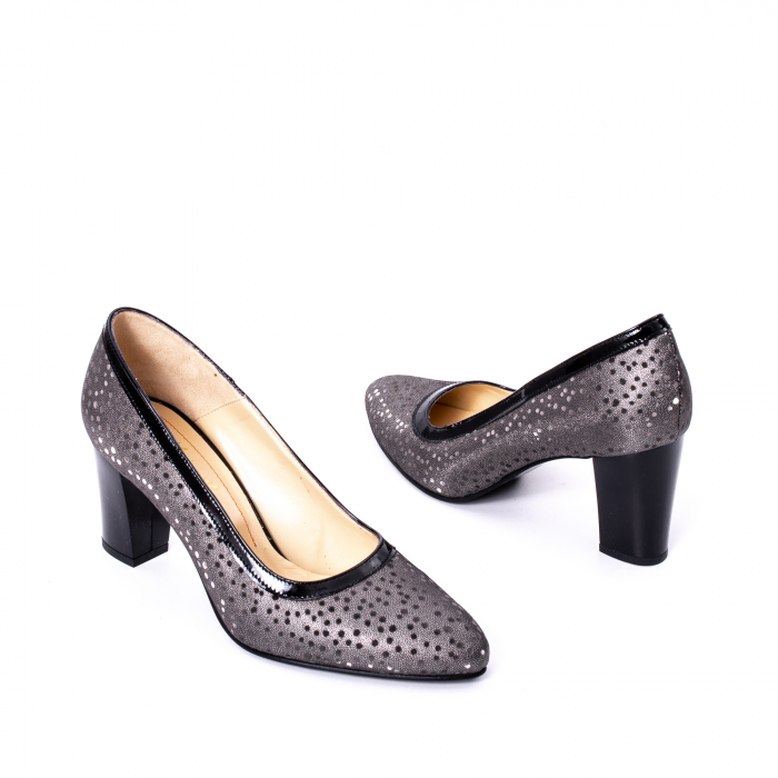 Pantofi dama piele naturala texturata Nike Invest 324 5CNL, negru-gri 2