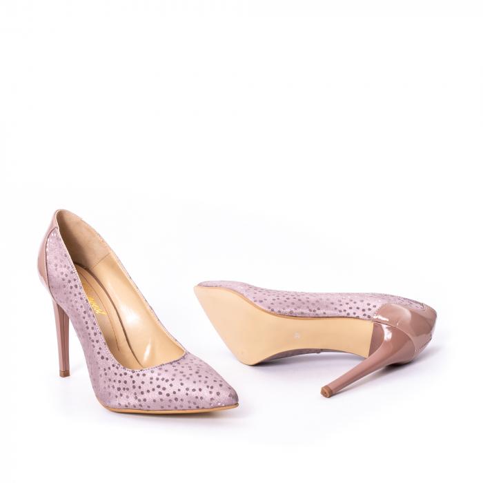 Pantofi dama piele naturala texturata Nike Invest 329 2CLB16, roz 3
