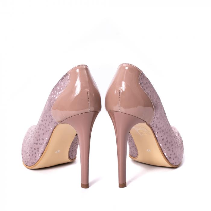 Pantofi dama piele naturala texturata Nike Invest 329 2CLB16, roz 6