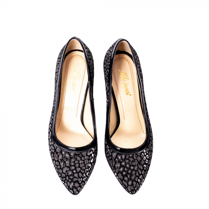 Pantofi dama piele naturala texturata Nike Invest 324PENL, negru 5