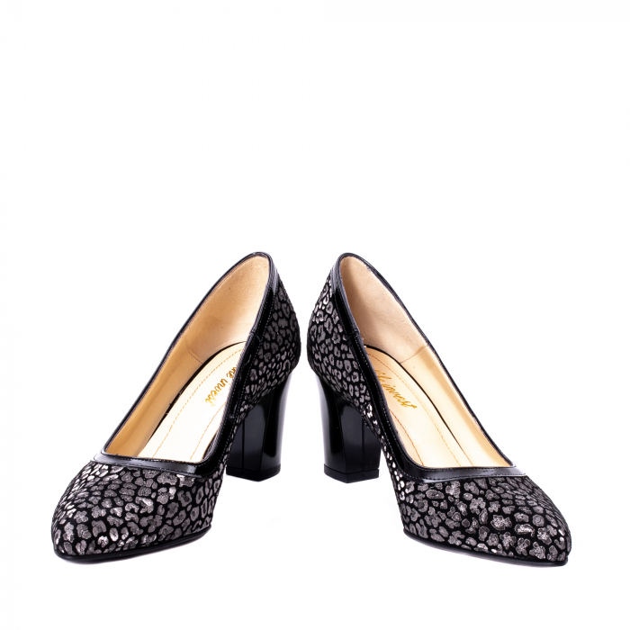 Pantofi dama piele naturala texturata Nike Invest 324PENL, negru 4