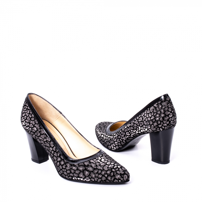 Pantofi dama piele naturala texturata Nike Invest 324PENL, negru 2