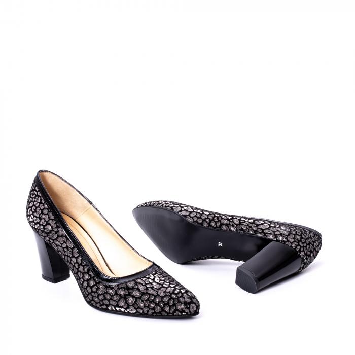 Pantofi dama piele naturala texturata Nike Invest 324PENL, negru 3