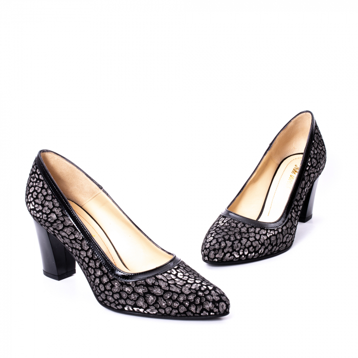Pantofi dama piele naturala texturata Nike Invest 324PENL, negru 1