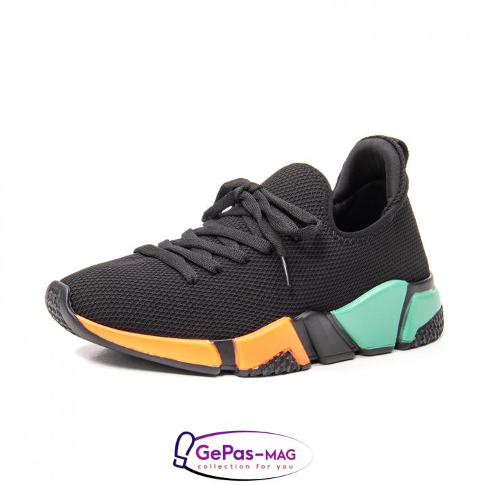 Pantofi dama sport din material textil, A6M044-029 01-T 0