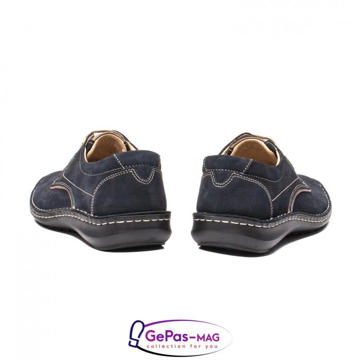 Pantofi de vara barbat, piele naturala, 9553 bleumarin 6