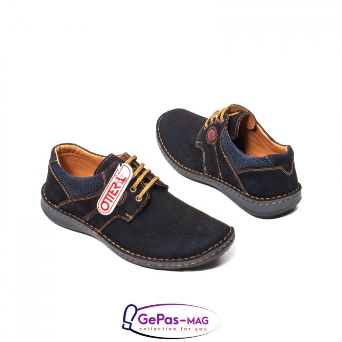 Pantofi de vara, piele intoarsa, OT 9560 42-I bleumarin [2]