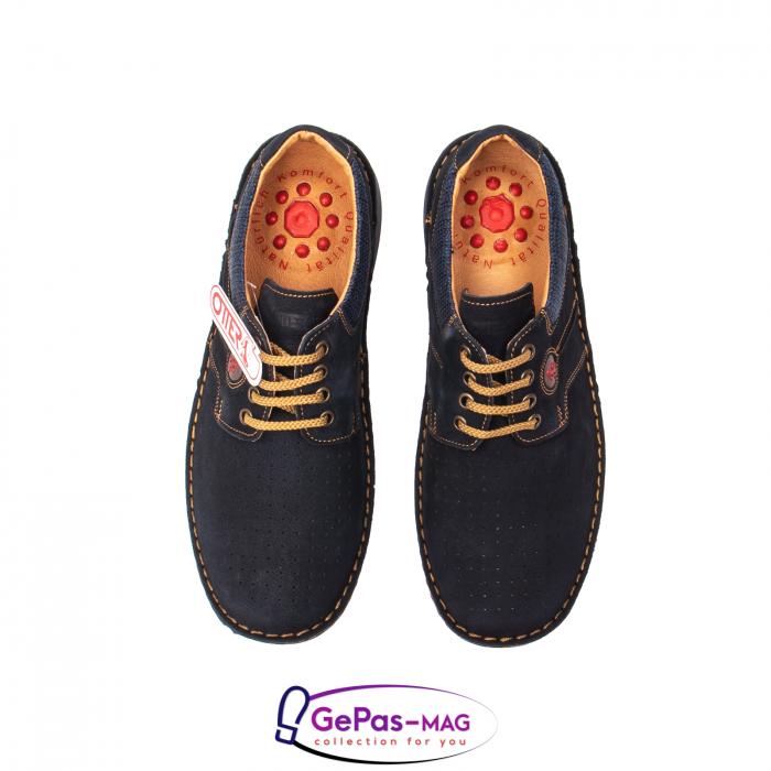 Pantofi de vara, piele intoarsa, OT 9560 42-I bleumarin [5]