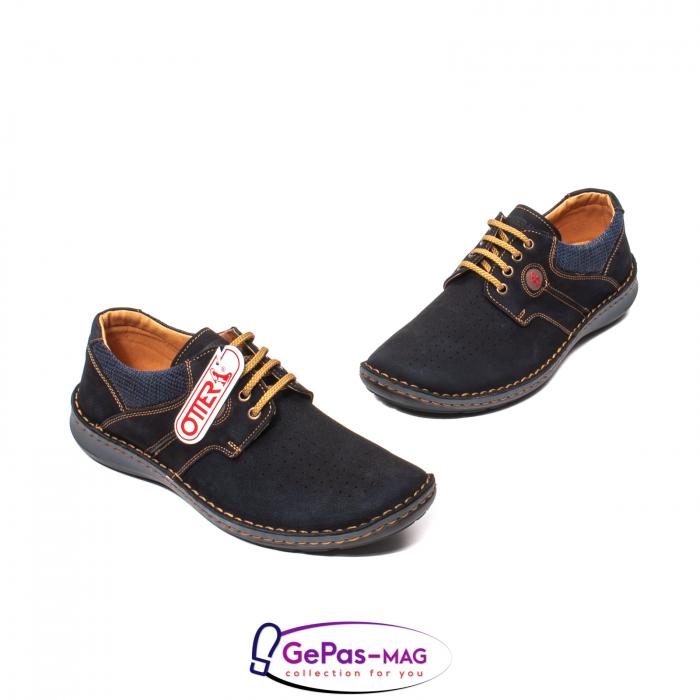 Pantofi de vara, piele intoarsa, OT 9560 42-I bleumarin [1]