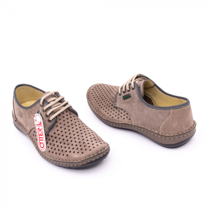 Pantofi de vara, piele naturala nabuc, OT 9558, gri [2]