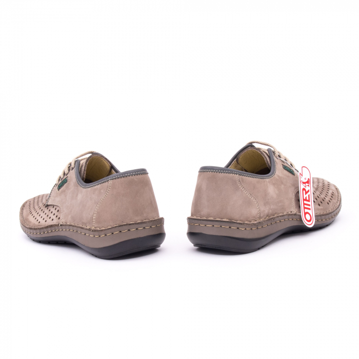Pantofi de vara, piele naturala nabuc, OT 9558, gri [5]