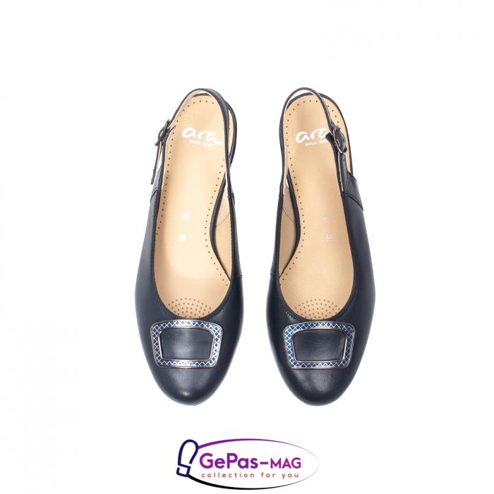 Pantofi piele decupati, AR35865-02 42-N 5