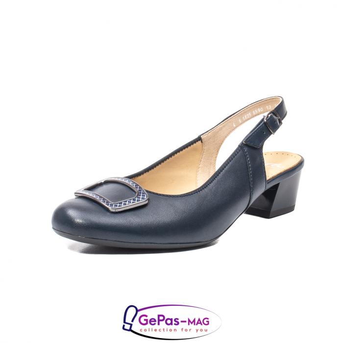 Pantofi piele decupati, AR35865-02 42-N 0