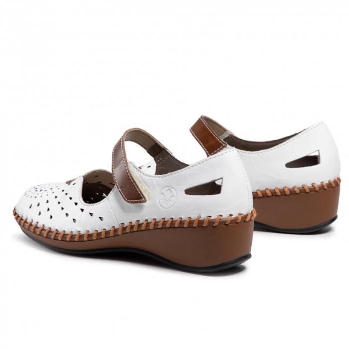 Pantofi decupati dama din piele naturala, N1657-80 [2]