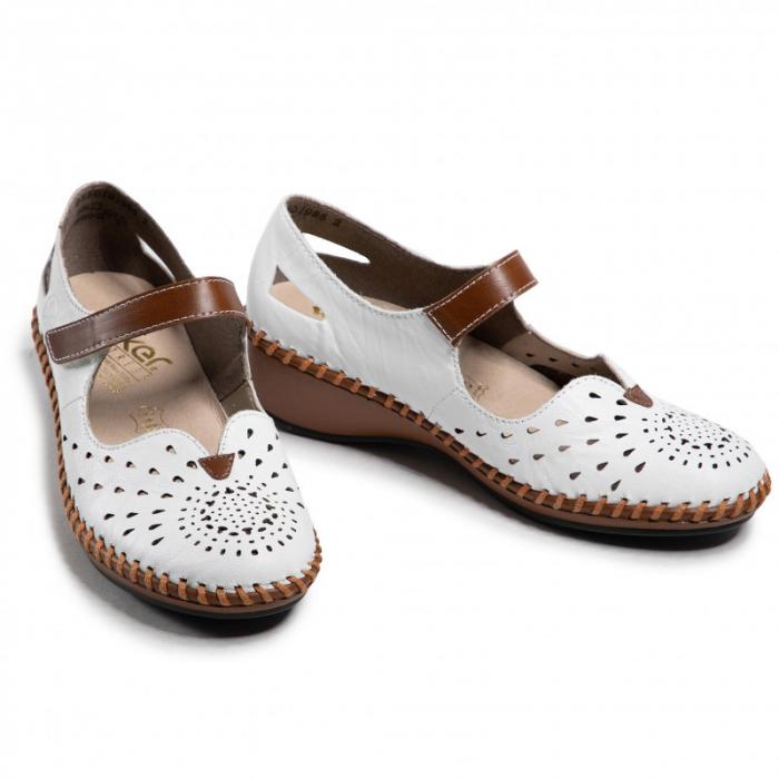 Pantofi decupati dama din piele naturala, N1657-80 [4]