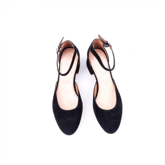 Pantofi decupati dama LFX  221 negru velur 5