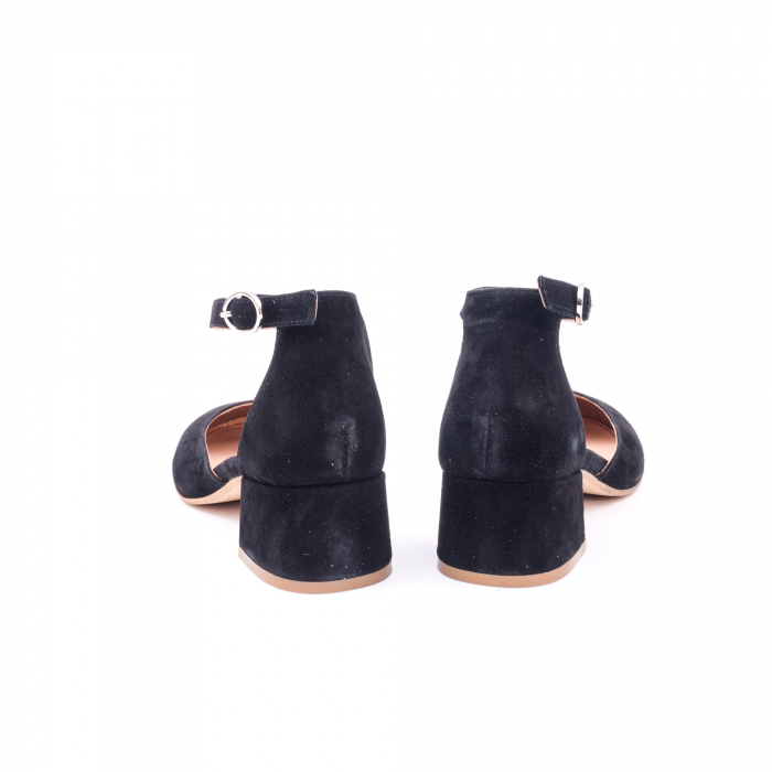 Pantofi decupati dama LFX  221 negru velur 6