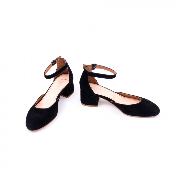 Pantofi decupati dama LFX  221 negru velur 4