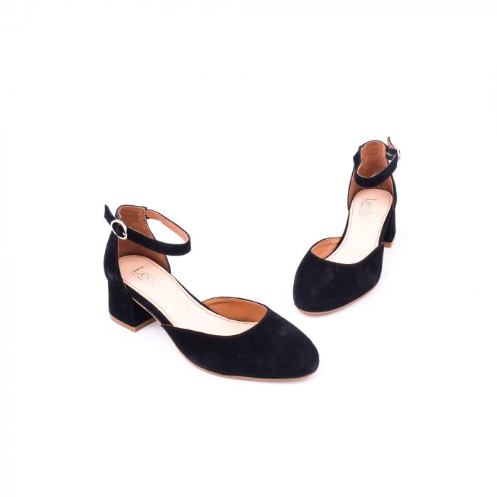 Pantofi decupati dama LFX  221 negru velur 1