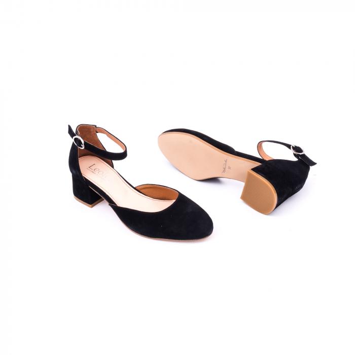 Pantofi decupati dama LFX  221 negru velur 3