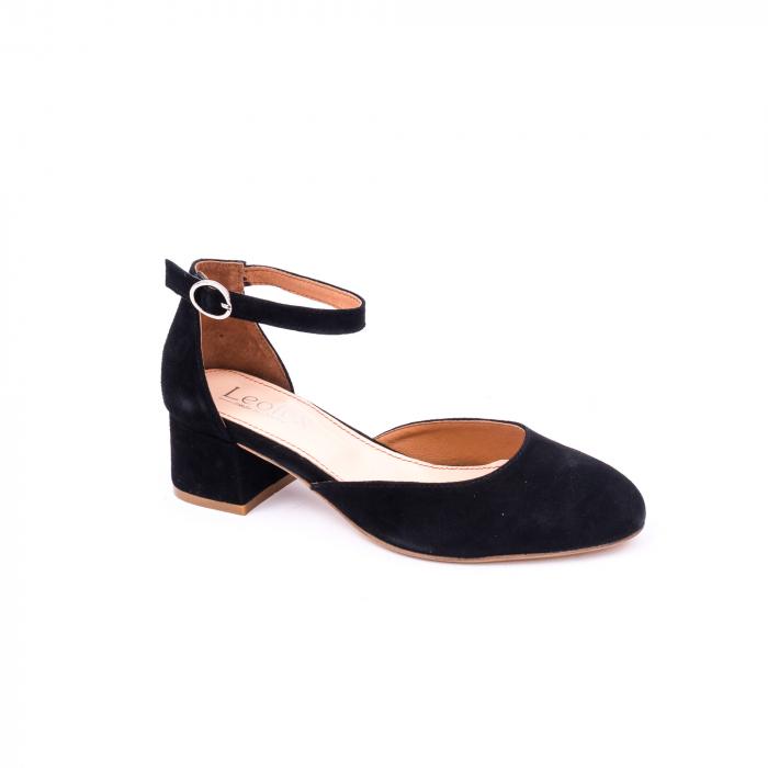 Pantofi decupati dama LFX  221 negru velur 0
