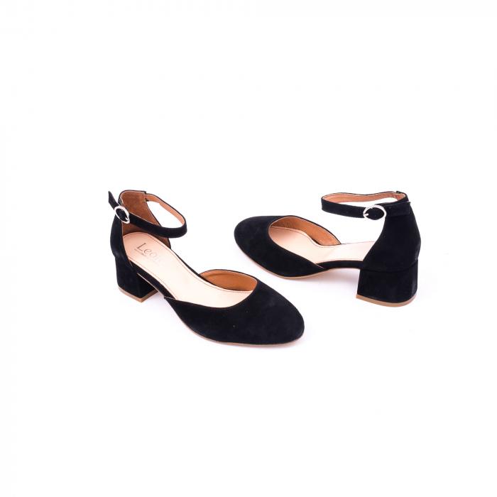 Pantofi decupati dama LFX  221 negru velur 2