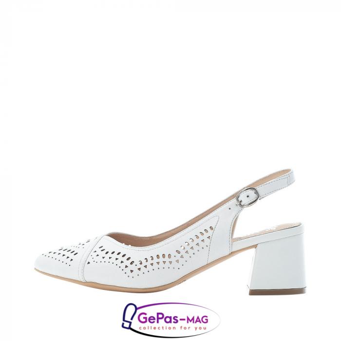 Pantofi decupati dama, piele naturala, 49175-80 6