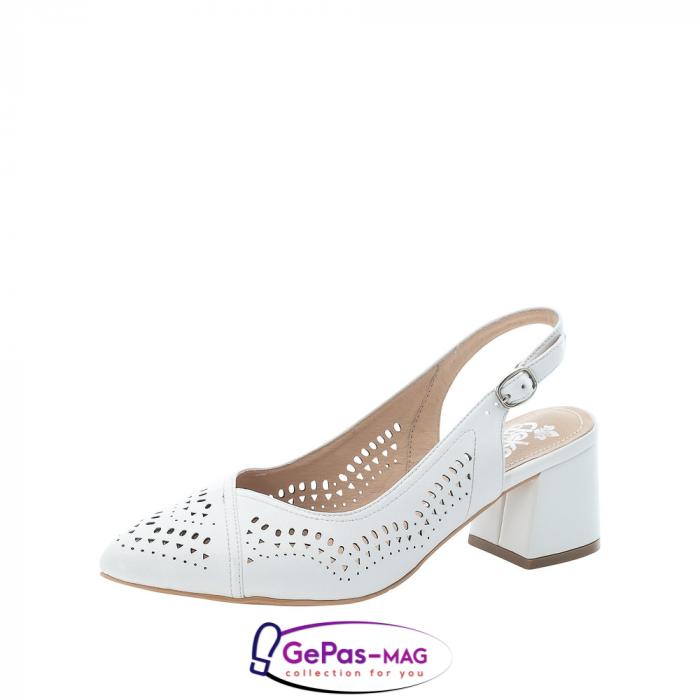 Pantofi decupati dama, piele naturala, 49175-80 0