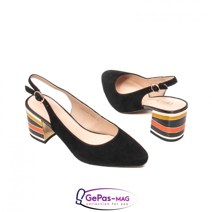 Pantofi decupati dama, piele naturala de antilopa, JI1K139 2
