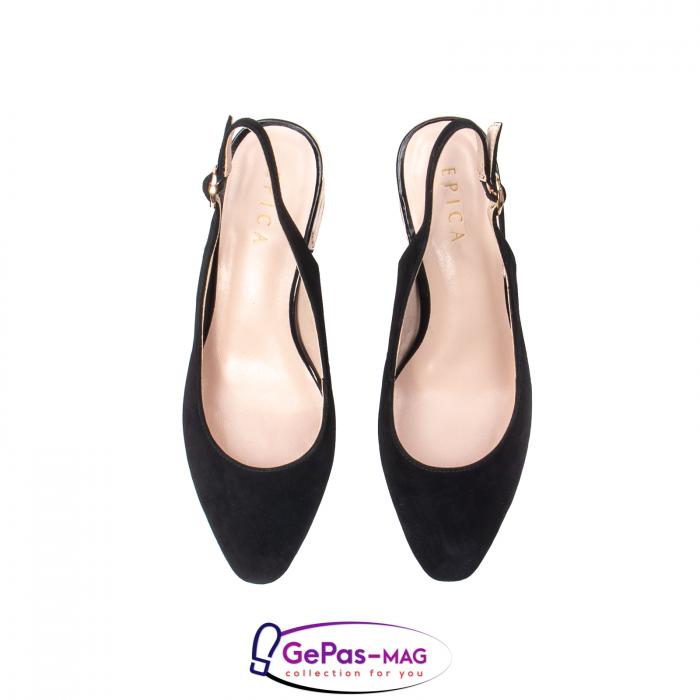 Pantofi decupati dama, piele naturala de antilopa, JI1K139 5