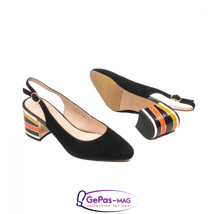 Pantofi decupati dama, piele naturala de antilopa, JI1K139 3