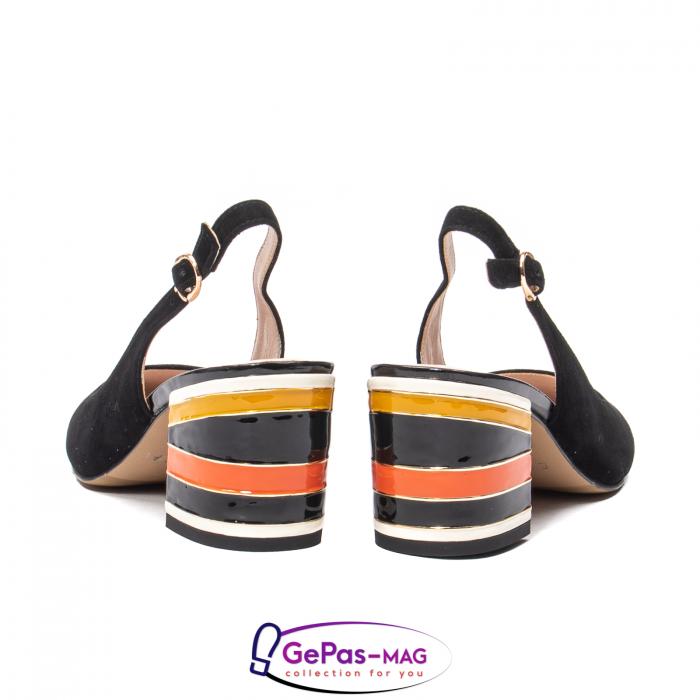 Pantofi decupati dama, piele naturala de antilopa, JI1K139 6