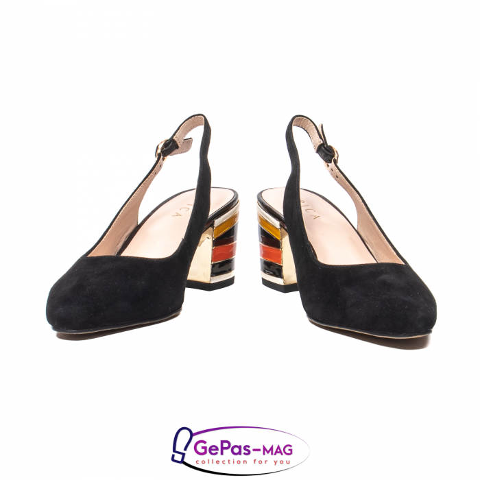Pantofi decupati dama, piele naturala de antilopa, JI1K139 4