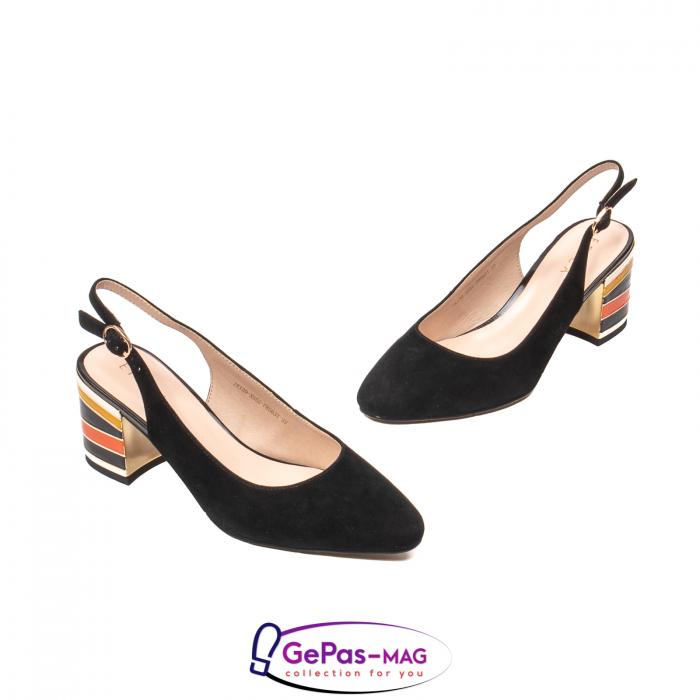 Pantofi decupati dama, piele naturala de antilopa, JI1K139 1