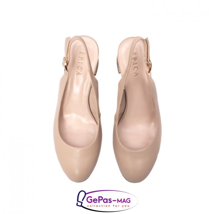 Pantofi decupati dama, piele naturala, JI1K121 5