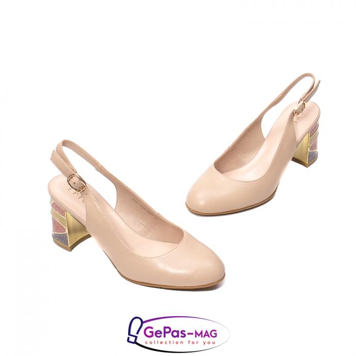 Pantofi decupati dama, piele naturala, JI1K121 1