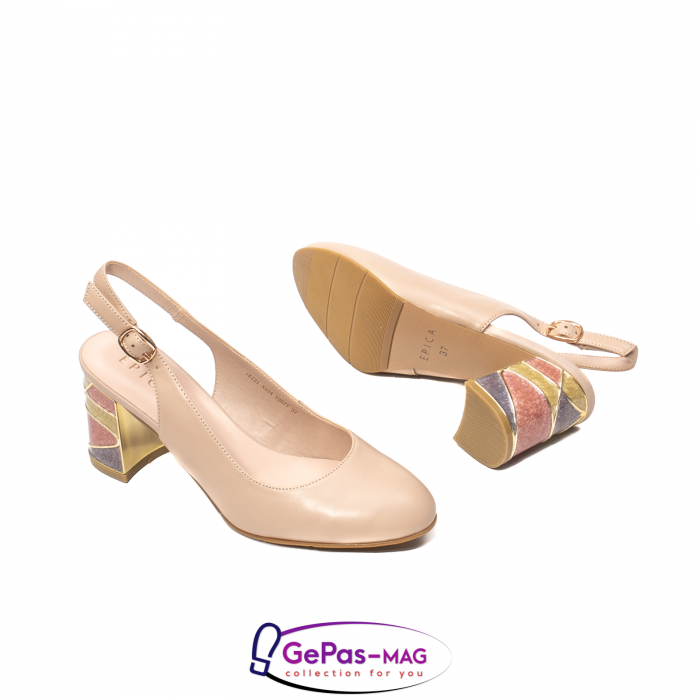 Pantofi decupati dama, piele naturala, JI1K121 3