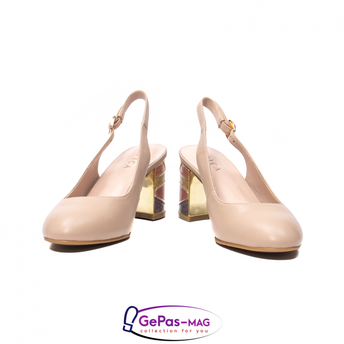 Pantofi decupati dama, piele naturala, JI1K121 4