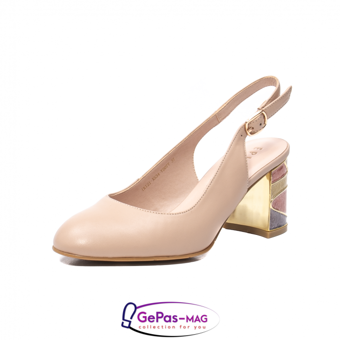 Pantofi decupati dama, piele naturala, JI1K121 0