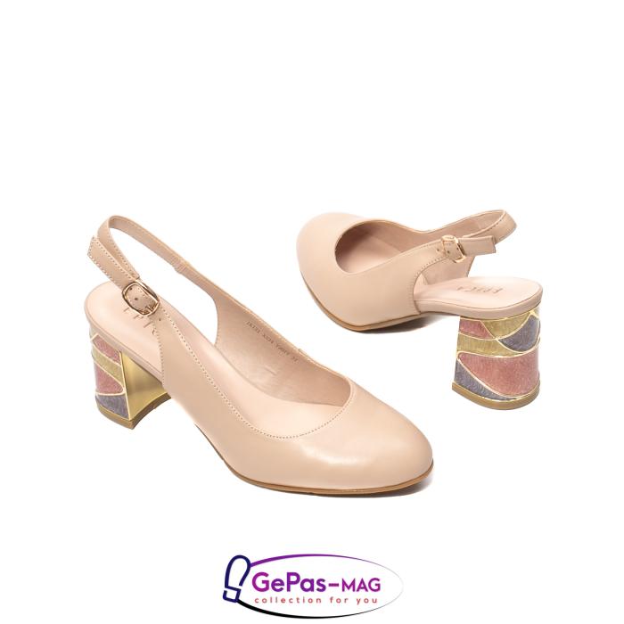 Pantofi decupati dama, piele naturala, JI1K121 2