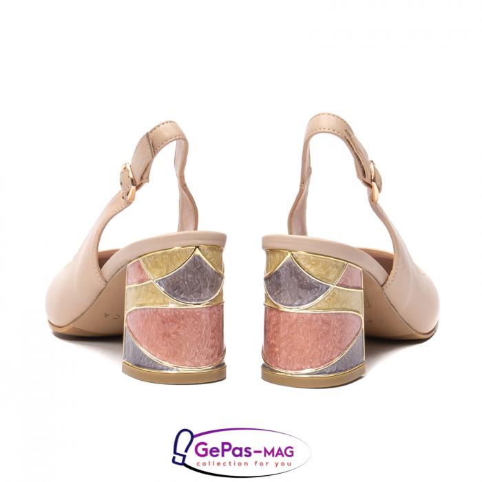 Pantofi decupati dama, piele naturala, JI1K121 6