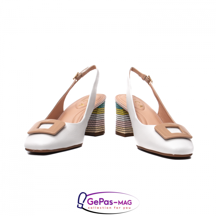 Pantofi decupati dama, piele naturala, OE10090 4
