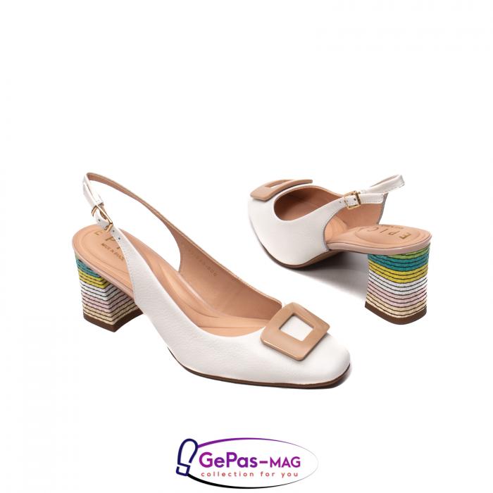 Pantofi decupati dama, piele naturala, OE10090 2
